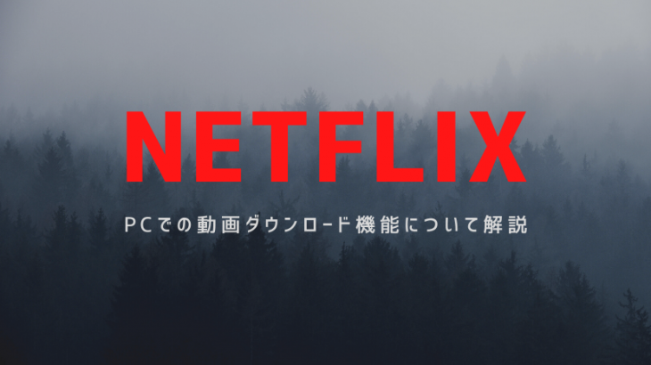 【NETFLIX】ダウンロード機能はPCでも使える?