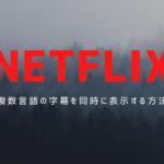 【NETFLIX】字幕機能で複数の言語を同時に表示する方法